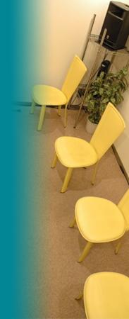 グループレッスンの椅子